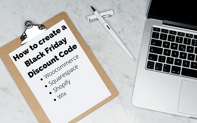 How to create a Black Friday discount code on WooCommerce, Squarespace, Shopify & Wix